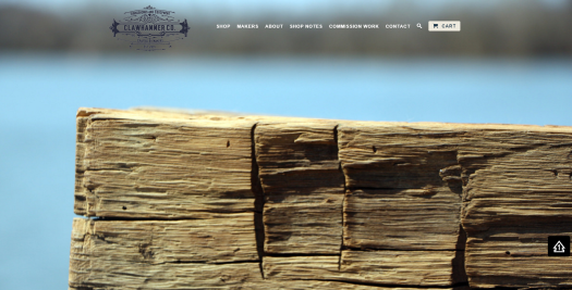 Clawhammer Co Home page design by Commonwealth Creative Richmond VA