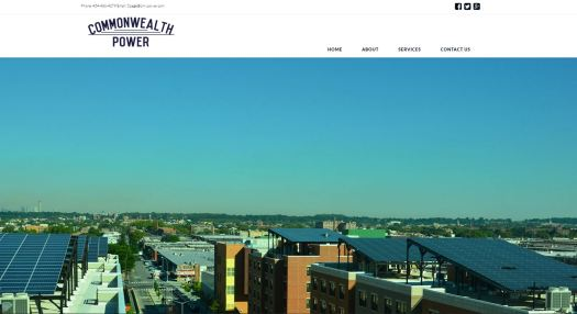 Web design by Commonwealth Creative - Commonwealth Power llc -Richmond Virginia